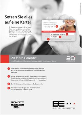BE 1013 Garantie Poster